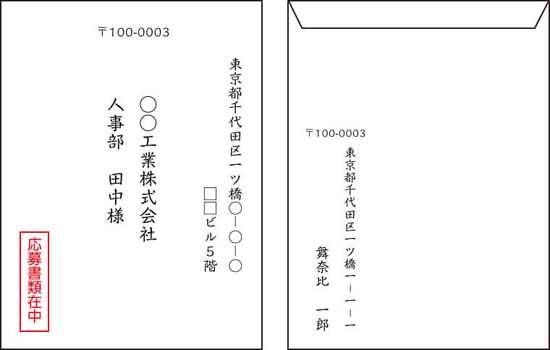 封筒の書き方テンプレート