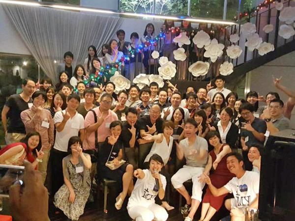 マレーシアで行われたGJJの忘年会の写真